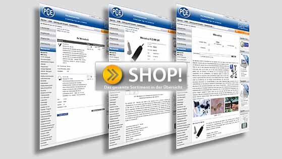 Visite nuestra tienda online PCE Instruments